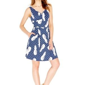 Maison Jules Navy Pineapple Dress